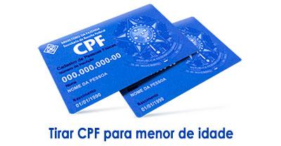 CPF para brasileiros menores de idade