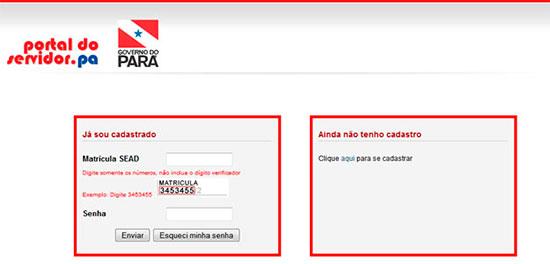 Como acessar o contracheque eletrônico no Portal do Servidor PA