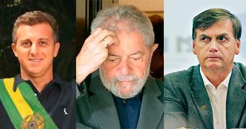 Na internet: vídeo com Huck ataca Lula e Bolsonaro