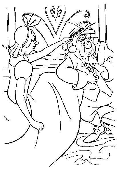 Desenhos para Pintar e Imprimir da Cinderela - 1