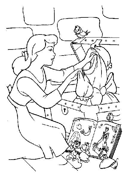 Desenhos para Pintar e Imprimir da Cinderela - 3