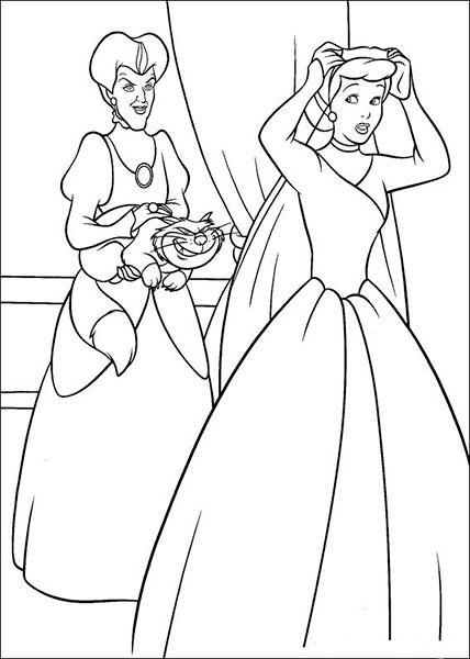 Desenhos para Pintar e Imprimir da Cinderela - 5
