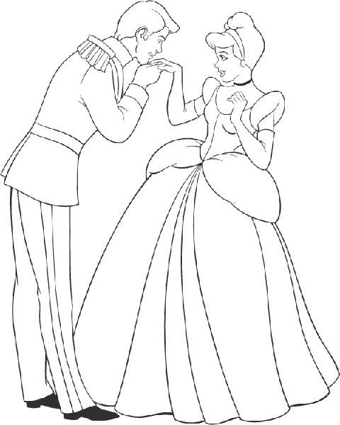 Desenhos para Pintar e Imprimir da Cinderela - 6