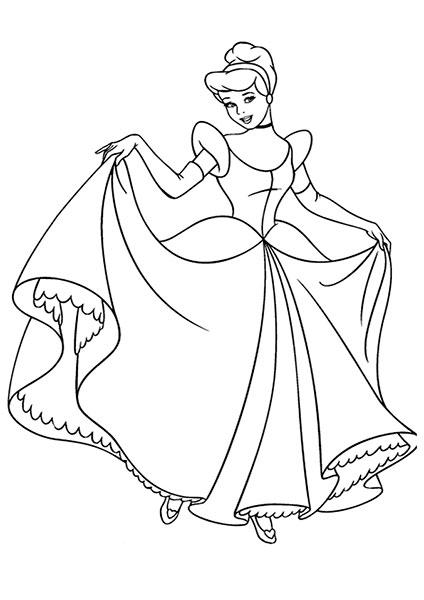 Desenhos para Pintar e Imprimir da Cinderela - 7
