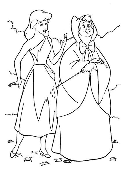 Desenhos para Pintar e Imprimir da Cinderela - 9