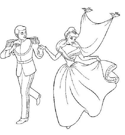 Desenhos para Pintar e Imprimir da Cinderela - 10