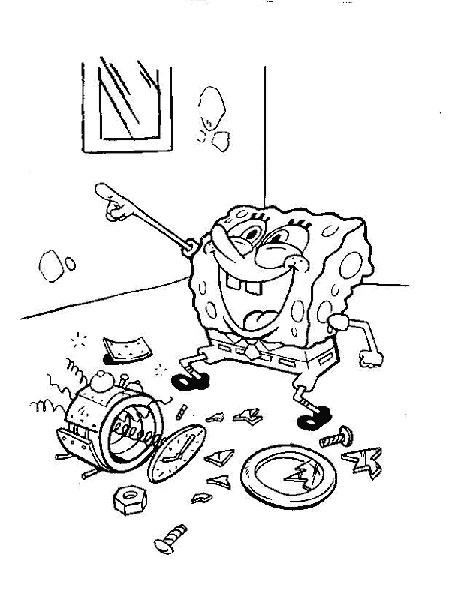 Desenhos para Colorir e Imprimir do Bob Esponja - 1