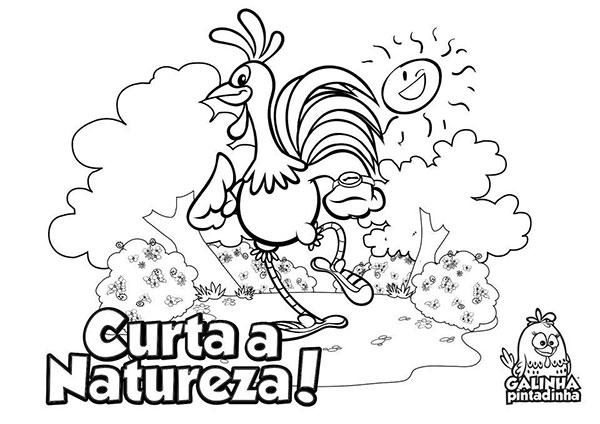 Desenhos para Colorir e Imprimir da Galinha Pintadinha - 6