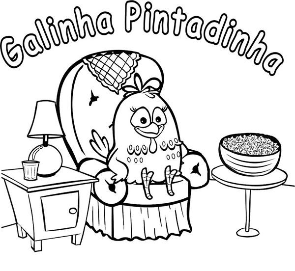 Desenhos para Colorir e Imprimir da Galinha Pintadinha - 13
