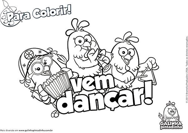 Desenhos para Colorir e Imprimir da Galinha Pintadinha - 15