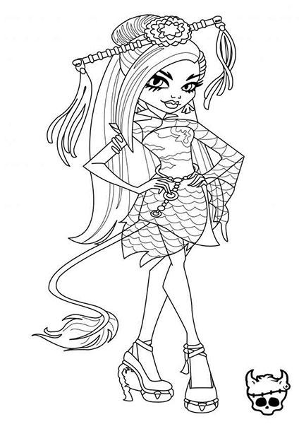 Desenhos para Colorir e Imprimir das Monster High - 3