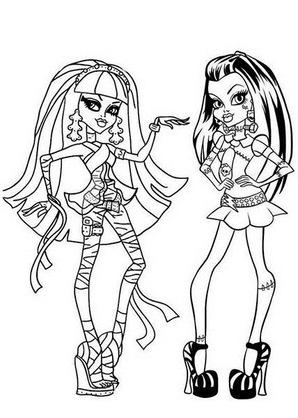 Desenhos para Colorir e Imprimir das Monster High - 4