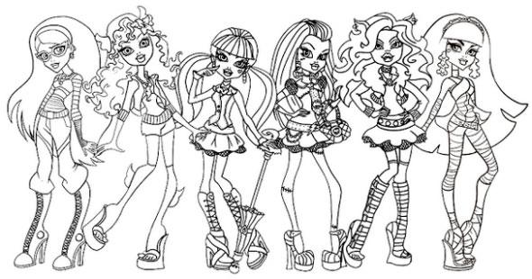 Desenhos para Colorir e Imprimir das Monster High - 11