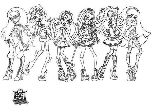 Desenhos para Colorir e Imprimir das Monster High - 15