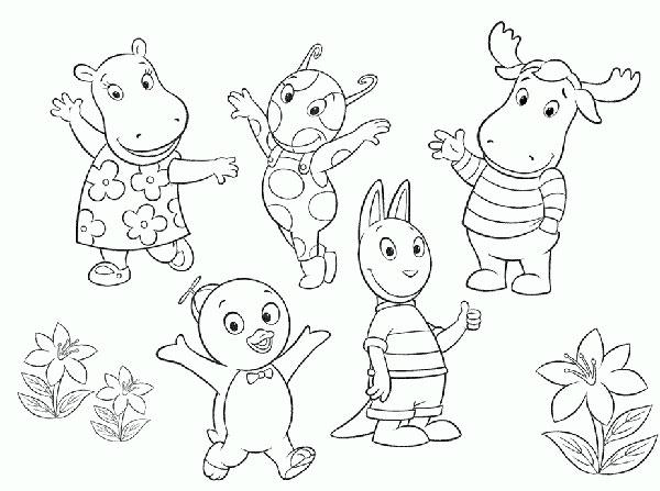 Desenhos para Pintar e Imprimir dos Backyardigans - 13