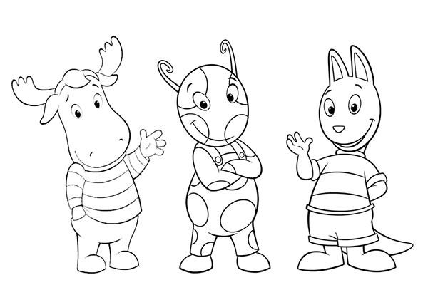 Desenhos para Pintar e Imprimir dos Backyardigans - 15