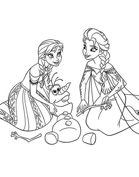 Desenhos para pintar e imprimir do Frozen - 1