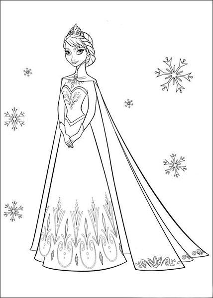 Desenhos para pintar e imprimir do Frozen - 2