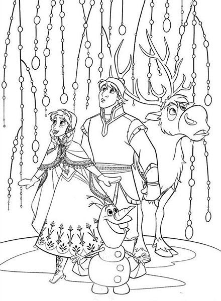 Desenhos para pintar e imprimir do Frozen - 6