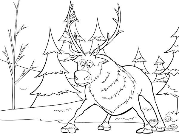 Desenhos para pintar e imprimir do Frozen - 8
