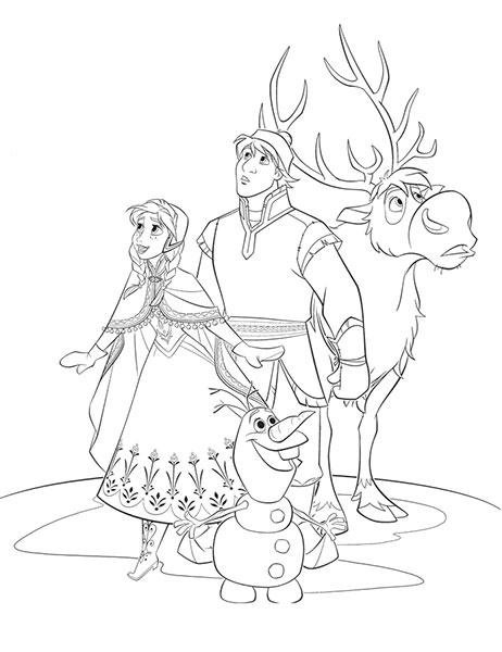 Desenhos para pintar e imprimir do Frozen - 11