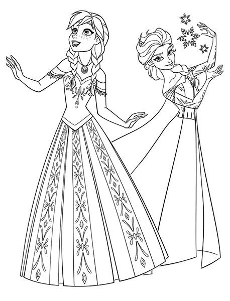 Desenhos para pintar e imprimir do Frozen - 12