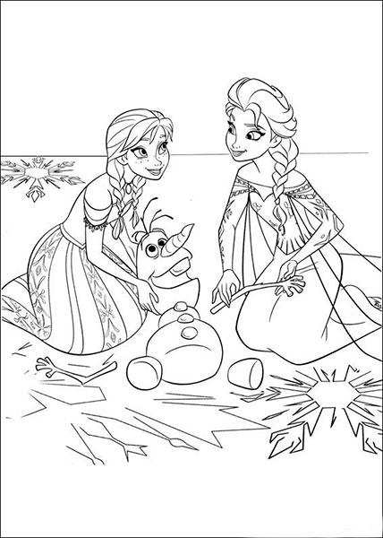 Desenhos para pintar e imprimir do Frozen - 15