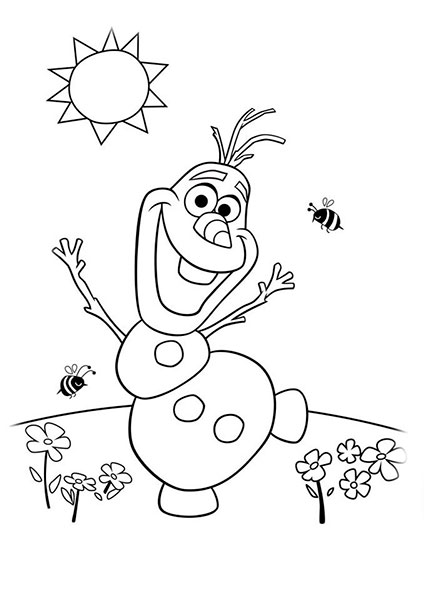 Desenhos para pintar e imprimir do Frozen - 16