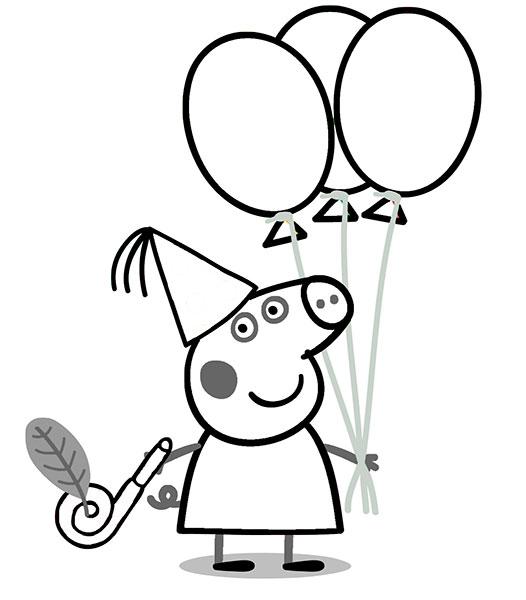 Desenhos para pintar e imprimir da Peppa Pig - 1