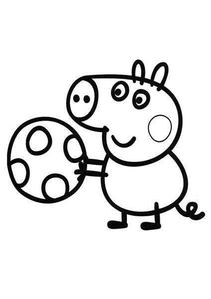 Desenhos para pintar e imprimir da Peppa Pig - 4