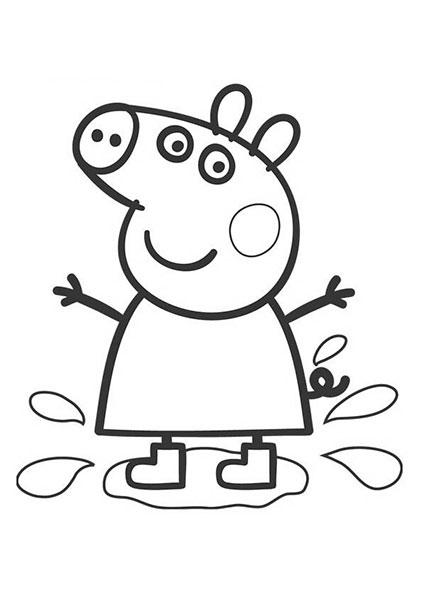 Desenhos para pintar e imprimir da Peppa Pig - 5