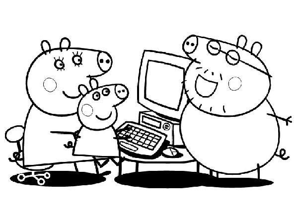 Desenhos para pintar e imprimir da Peppa Pig - 6