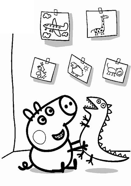 Desenhos para pintar e imprimir da Peppa Pig - 7