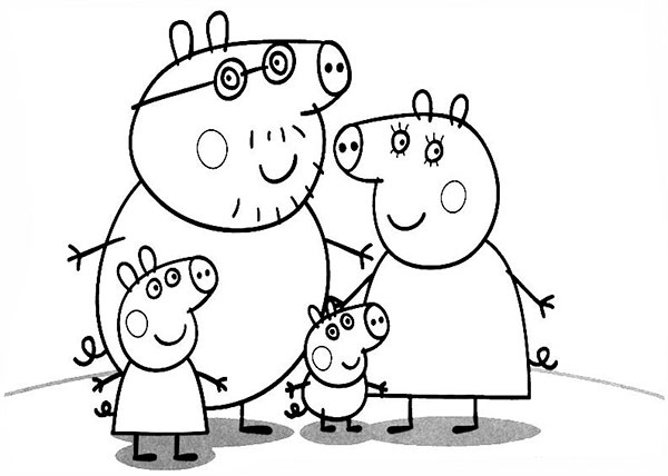 Desenhos para pintar e imprimir da Peppa Pig - 8