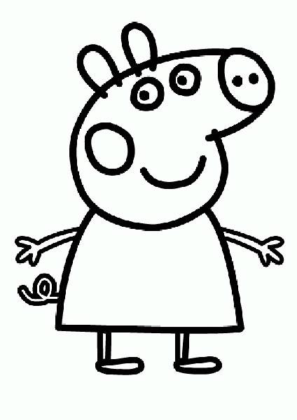 Desenhos para pintar e imprimir da Peppa Pig - 9