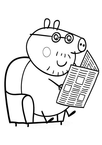Desenhos para pintar e imprimir da Peppa Pig - 11