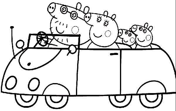 Desenhos para pintar e imprimir da Peppa Pig - 13