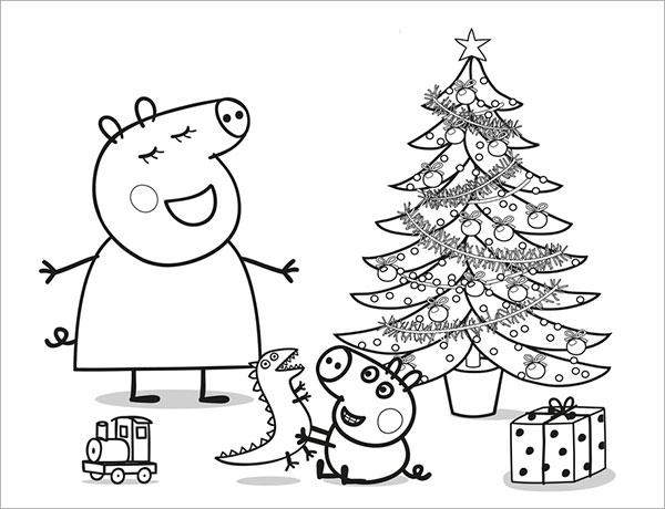 Desenhos para pintar e imprimir da Peppa Pig - 14